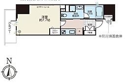 JR総武線 浅草橋駅 徒歩4分の賃貸マンション 5階1Kの間取り