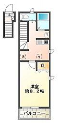 ローゼル東小金井[1階]の間取り