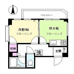 サンモール原田[4階]の間取り