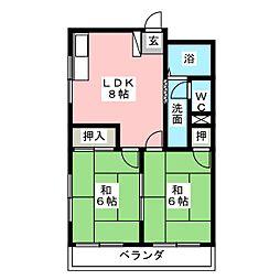 コーポ楠[2階]の間取り