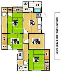 [一戸建] 福岡県北九州市小倉北区泉台4丁目 の賃貸【/】の間取り