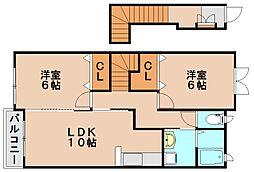 ウィンズサン2[2階]の間取り