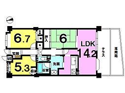 1階専用庭付のお部屋です