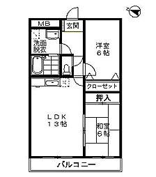 アビエンテ都府楼[4階]の間取り
