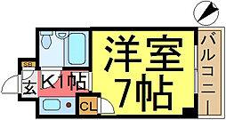 ライオンズマンション東新小岩[4F号室]の間取り