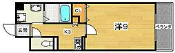 香里プラザ7[4階]の間取り