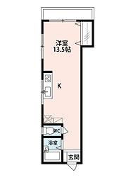 トリニティービル[3階]の間取り
