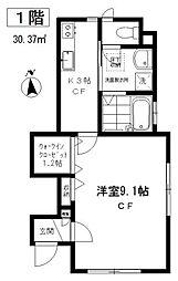 東京都目黒区祐天寺2丁目の賃貸アパートの間取り