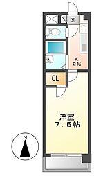 ハウス大秋[3階]の間取り