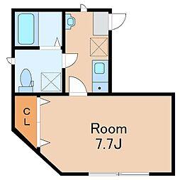 JR中央本線 中野駅 徒歩15分の賃貸アパート 3階1Kの間取り