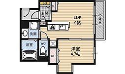 イーストコア新大阪[2階]の間取り