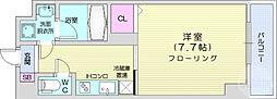 JR仙山線 東北福祉大前駅 徒歩13分の賃貸マンション 7階1Kの間取り