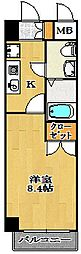 ジュメル京成船橋[4階]の間取り