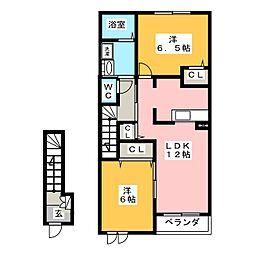 セレッソコート A[2階]の間取り