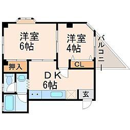 北本マンション[3階]の間取り