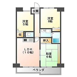 パシフィックマンションII[2階]の間取り