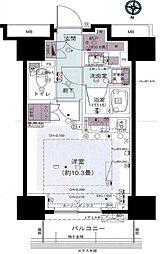 パークリュクス西新宿[1004号室号室]の間取り