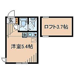 Huvafen Fushi 鶴見[102号室]の間取り