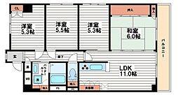 メゾン東船場[12階]の間取り