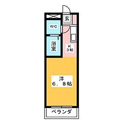 エムケー木戸[2階]の間取り