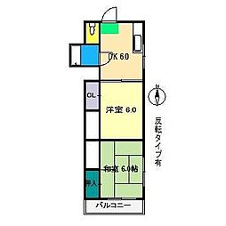 アサモマンション[3階]の間取り