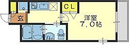 M'プラザ小阪駅前[11階]の間取り