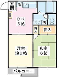 浦安コーポ[2階]の間取り