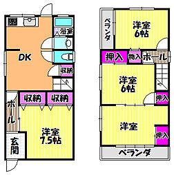 [一戸建] 大阪府富田林市寿町3丁目 の賃貸【/】の間取り