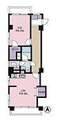 広々とした9帖のLDKと、眺望良好な6帖の洋室の1LDKです。3面開口のため通風も良好です。
