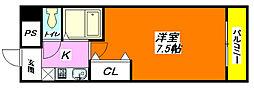 コートビュー・タワー 702号室[7階]の間取り