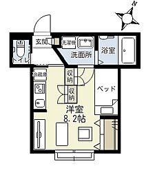 埼玉県さいたま市中央区上落合9丁目の賃貸アパートの間取り