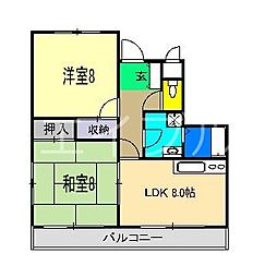 ジェンテ21[1階]の間取り