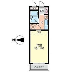 パークサイド湘南台[2階]の間取り