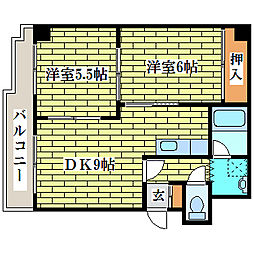 サンメイプルII[3階]の間取り