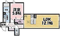 シャーメゾン鍋島[103号室]の間取り