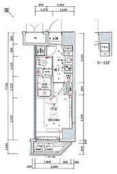 リヴシティ横濱関内[1003号室]の間取り