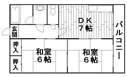 福家ハイツ[2階]の間取り