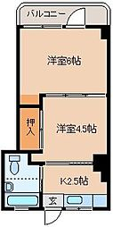 メゾンド秋山[101号室]の間取り