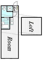 コルディア宮前平[203号室]の間取り