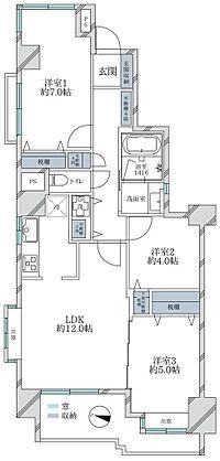 間取り(全室採光の室内内装フルリノベーション物件 家具付き販売です)