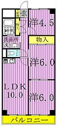 第3千代田マンション[412号室]の間取り