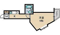 ディザイア新大阪[9階]の間取り