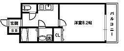大阪府大阪市天王寺区上汐4丁目の賃貸マンションの間取り