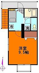 神奈川県横須賀市東逸見町2丁目の賃貸アパートの間取り