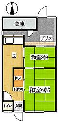 王居殿アパート[104号室]の間取り