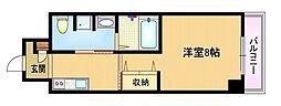 Osaka Metro谷町線 野江内代駅 徒歩3分の賃貸マンション 2階1Kの間取り