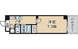 大阪府大阪市浪速区幸町2丁目の賃貸マンションの間取り
