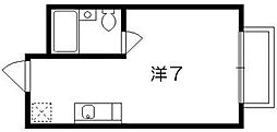 京都府京都市下京区七条御所ノ内北町の賃貸マンションの間取り