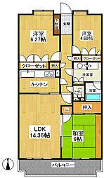 WING東戸塚[103号室]の間取り