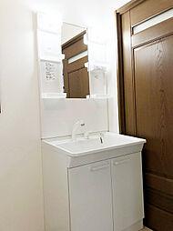 「設備:洗面台(1階)」新品交換済み。使いやすいシャワーノズルです。